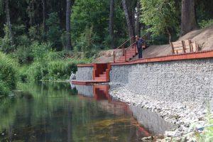 обустройство берега водоема габионами